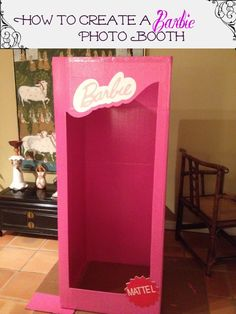 How To Make A Photo Booth for a #Barbie Party #PhotoBooth