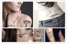 New Design Fashion Temporary Tattoo Stickers Temporary Body Art Waterproof Tattoo Pattern1
