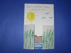 Baby Moses Surprise Picture - art project -- Exodus ** possibly switch craft (combine) I like the flaps. Bible Story Crafts, Bible Crafts For Kids, Preschool Bible, Bible Activities, Preschool Crafts, Bible Stories, Kids Bible, Group Activities, Sunday School Projects