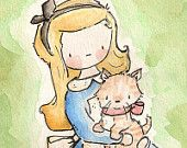For Wil & Jess >> Alice in Wonderland Collection. Print 8X10. Nursery Art Home Decor. $24.00, via Etsy.