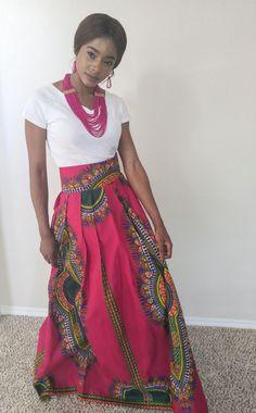 Maxi Skirt African skirt African maxi skirt Dashiki maxi