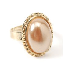 Montauk Pearl Ring ($30) ❤ liked on Polyvore featuring jewelry, rings, accessories, pink, gioielli, pink pearl jewelry, amrita singh jewelry, amrita singh, pink pearl ring and oval stone ring