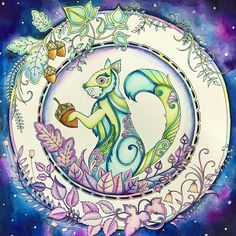 Colorido super lindo!!!!! @Regrann from @zini__pang  -   #신비의숲 #컬러링북 #enchantedforest #johannabasford #coloringbook #colouringbook #Regrann #artecomoterapia #jardimsecreto #florestaencantada #livrosdecolorirantiestresse #livrodecolorir #lapisdecor #instaart #instacoloring #coloriage #coloring #amocolorir