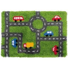Racing Track Latch Hook Rug By Anchor 70x50cm Lh2023 Rugs Making