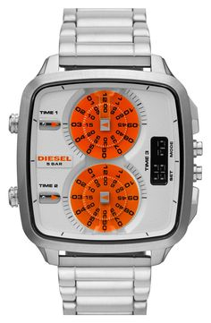 Almost all DIESEL watch styles are sold here. Find great deals on Diesel watches, Diesel watches for men and women - Find the Lowest Prices in Canada. Aftershave, Diesel Watches For Men, Cool Watches, Men's Watches, Cheap Watches, Watch Sale, Square Watch, Stainless Steel Bracelet, Casio Watch