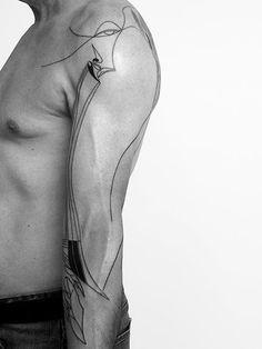Sleeve Tattoos for Men Best Sleeve Tattoo Ideas and Designs Dot Tattoos, Line Art Tattoos, Baby Tattoos, Arm Tattoos For Guys, Body Art Tattoos, Tatoos, Quarter Sleeve Tattoos, Best Sleeve Tattoos, Geometric Sleeve Tattoo