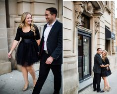 Classy Downtown Engagement with Handmade Black Tulle Skirt Vancouver Wedding Photographer, Princess Wedding, Engagement Photos, Buildings, Wedding Photos, Tulle, Classy, Hair Styles, Skirts