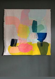 Blue Horse, Art Brut, Colorful Artwork, Happy Art, Color Studies, Textile Art, Collage Art, Fiber Art, Amazing Art