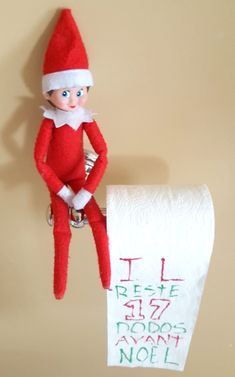 DIY : Comment fabriquer un gnome de Noël ? - Idées conseils et tuto Noël Everything from Elf on the Shelf funny ideas to Elf on the Shelf games that will get the family excited for the holidays — and on their best behavior. Elf On The Shelf, The Elf, Christmas Countdown, Christmas Elf, Christmas Crafts, Elf Auf Dem Regal, Holiday Fun, Holiday Decor, Christmas Preparation