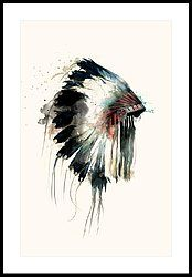 Headdress Framed Print by Amy Hamilton