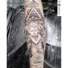 #mulpix Por Jefferson Santos (@jeh21cm )  #tattoo  #tatuagem  #angel  #anjo  #religioustattoo  #blackandgrey