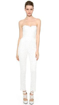 Monique Lhuillier Paige Lace Jumpsuit | Get paid up to 9.2% Cashback when you shop at SHOPBOP with your DubLi membership. Not a member? Sign up for FREE at www.downrightdealz.net