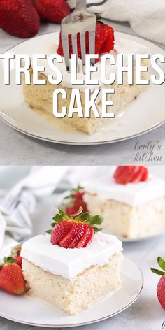 An easy tres leches cake recipe made with cake mix, sweetened condensed milk, evaporated milk, and heavy cream. Gâteau Tres Leches, Tres Leches Recipe, Tres Leches Cupcakes, Easy Desserts, Delicious Desserts, Romantic Desserts, German Desserts, Gourmet Desserts, Low Carb Desserts