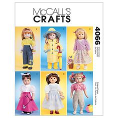 18 Doll Clothes-One Size Only Pattern