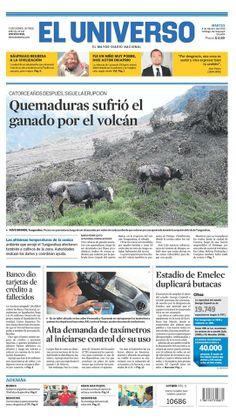 Portada de #DiarioELUNIVERSO del martes 4 de febrero del 2014. Las #noticias de #Ecuador y el mundo en: www.eluniverso.com