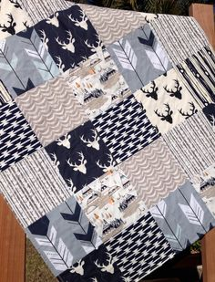 Woodland Quilt Kit Woodland Nursery Bedding Grey by OyeBabyFabrics