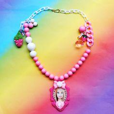 http://www.etsy.com/listing/84068280/barbie-swarovski-crystal-cameo-necklace #barbie