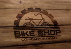 Bike Shop Logo by Vectorwins Premium Shop on @creativemarket