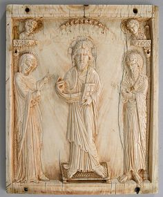 Icon with the Deesis,mid 10th century Made in Constantinople,byzantine,ivory.