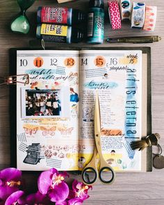 """476 Likes, 4 Comments - Sharon Tan • 美莲 (@ronnycakes) on Instagram: """"Week 15 - first vertical weekly layout! Not very pleased with it, and it was very very hard for me…"""""""