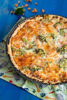 Brokkoli Möhren Quiche vegetarisch