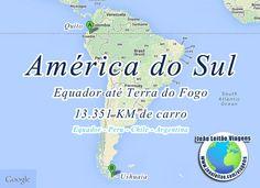 Conduzir na América do Sul - Equador até Terra do Fogo