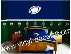 ..Football Field Wall Decal 1, Football, _football_field_wall1 - #1 source for Vinyl Decals