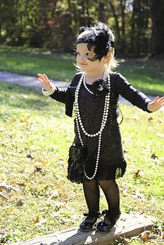 Sorry Luciana...you're not even born yet, but mama knows what you are being for Halloween in three to four years (I mean, if you're OK with it and all) <3     How cute is this pint sized flapper girl?