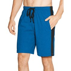 Hanes Men's Logo Waistband Striped Shorts 2-Pack