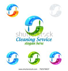 Cleaning Service vector Logo design, Eco Friendly Concept with shiny splash isolated on white Background Cleaning Service Logo, Vector Logo Design, Slogan, Concept, Vector Freepik, Eco Friendly, Royalty, Bright, Green