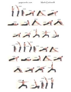 a sun salutation variation - break a sweat and energize the body and the mind in the morning.