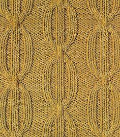 Узор из кос (жгутов) №12, вязаный спицами