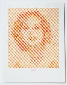 The Portrait Project - Evelin Kasikov – CMYK embroidery and Typographic Design – London