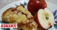 Kaikkien kehuma omenapiirakka – Apple pie, recipe in Finnish C = F) Apple Pie Recipes, Baking Recipes, Baking Ideas, Finnish Cuisine, I Love Food, Good Food, Fun Food, Finnish Recipes, Best Apple Pie