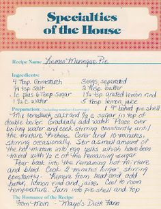 Old New England Recipes: 2012-07-15