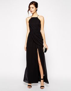 Enlarge VLabel London Temple High Neck Maxi Dress With Thigh Split