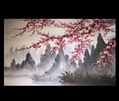 Modern-Wall-Art-Paintings-Art-Prints-On-Canvas-Japanese-Cherry-Blossom-Painting …