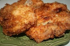 Deep Fried Southern Pork Chops-These chops were moist and delicious!  I followed the recipe but did not use the mustard sauce. I will be making these again and again!