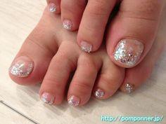 Lame foot nail glitter きらきらラメのフットネイル