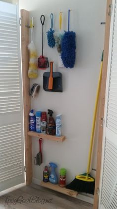 40 Ideas broom closet organization diy kitchens for 2019 Broom Closet Organizer, Broom Storage, Closet Storage, Diy Storage, Storage Ideas, Utility Closet, Laundry Closet, Cleaning Closet, Laundry Rooms