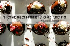 The best and easiest homemade truffles ever!