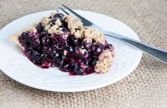 Gluten Free and Dairy Free Blueberry Crumble Pie