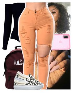 """badd."" by heeytyy ❤ liked on Polyvore featuring Boohoo, Speck and Vans"