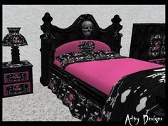 The living room is the main room with regards to decorating as well as allows that you should build the reasoning all through the home. Mixing furniture styles living room is the perfect starting point. Skull Bedroom, Gothic Bedroom, Fantasy Bedroom, Kids Bedroom Sets, Kids Bedroom Furniture, Bedroom Ideas, Bedroom Designs, Bedroom Decor, Kids Rooms