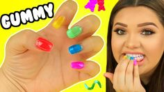 Great way to sneak candy into class. Best Gummy Bears, Karina Garcia, Youtube Videos For Kids, Nail Art For Kids, Eos Lip Balm, Edible Crafts, Slime Videos, Girls Nails, Diy School Supplies