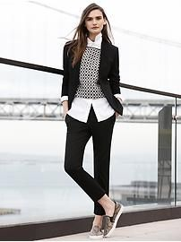 Women's Apparel: style @ work | Banana Republic- with different shoes and perhaps no vest/sweater