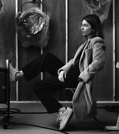 Le Fashion Blog Sofia Coppola Fashion Quote Interview Magazine Portrait Reed Krakoff Coat Adidas Sneakers Minimal Classic Style photo Le-Fas...