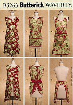 WAVERLY APRON Sewing Pattern - Three Very Easy Aprons