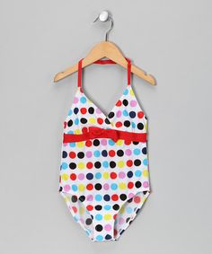 Take a look at this Red Polka Dot One-Piece - Toddler & Girls by S.W.A.K.: Swimwear on @zulily today!