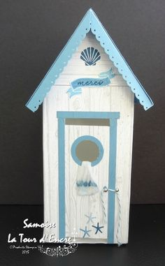 Beach cabin Hut House, Beach Huts, Bird Baths, Tampons, Gift Boxes, Bird Houses, Sweet Home, Ocean, Birds